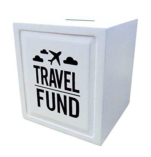 (Sterling James Co. Travel Fund Piggy Bank - Wedding and Travel Gift Ideas - Money Box - House Warming and Retirement Gifts for)