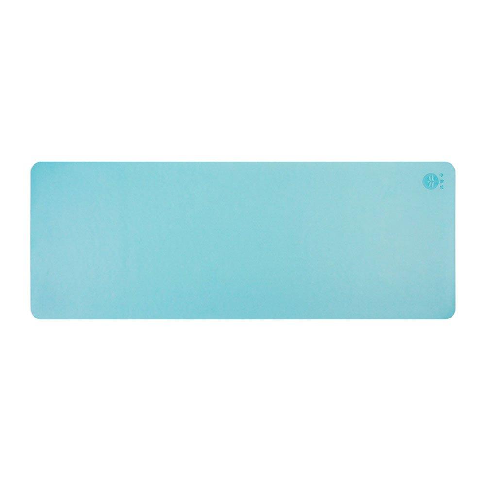 QIDI Yogamatte Reine Farbe Gummi Rutschfest Fitness Aerobic-Matte 183  68  0,5cm (Farbe   T-1)