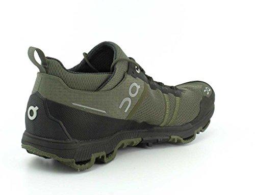 On Running - Zapatillas de atletismo de sintético para hombre Pine / Stone 44.5