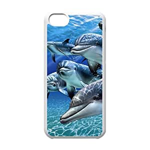 Dolphin iPhone 5c Cell Phone Case White yyfabc-393519