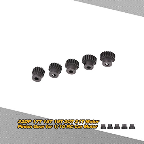 DZT1968 5pc/set GoolRC 5Pcs 32DP 5mm 17T 18T 19T 20T 21T Motor Pinion Gear for 1/10 RC Car Brushed Brushless Motor (Pinion Block)