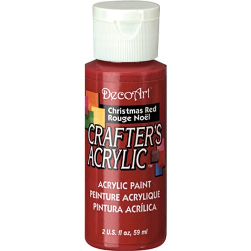 DecoArt 2-Ounce Christmas Red Gloss Crafter's Acrylic Paint