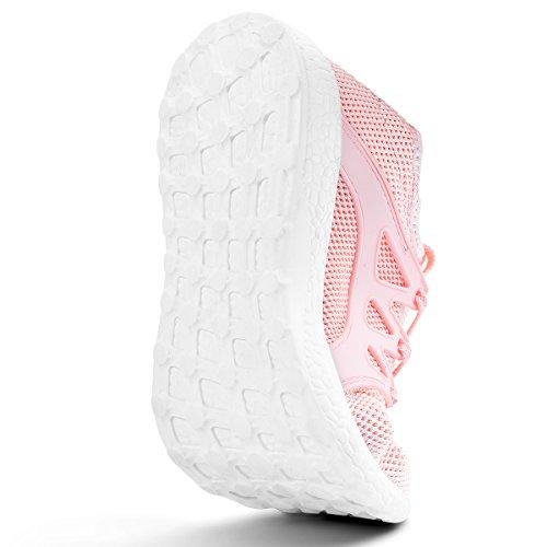 Mxson Kvinna Gymnastikskor Ultralätt Ventilerande Mesh Sport Gym Promenadskor Rosa