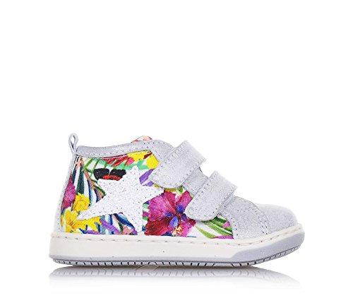 BALOCCHI - Mehrfarbiger Schuh aus Stoff und Leder, aus hochwertigen natürlichen Materialien, Mädchen