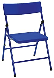 Cosco Products Kid\'s 4-Pack Pinch-Free Folding Chair, Blue