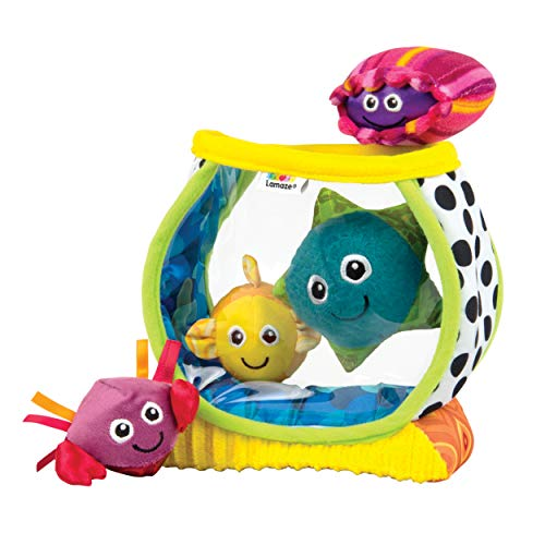LAMAZE - My First Fishbowl Toy, Capture Baby's Curiosity with Sea Creatures to Rattle, Squeak and Collect with Colorful Patterns, Interesting Textures and Unique Sounds, 6 Months and Older ()