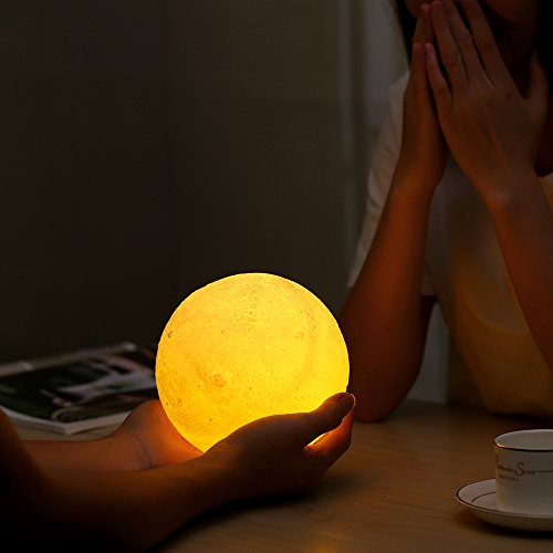 Moon-Night-Light-Lamp-Decorative-Touch-Control-LED-Moon-Light-with-Wooden-Stand-and-USB-Charger-Included-Great-Gift-Idea-for-Kids-or-for-Bedroom-Use
