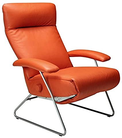 Delicieux Demi Recliner Chair Orange Leather Lafer Recliner Chairs