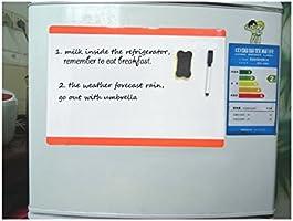 Villexun Pizarra Blanca magnética A4 de borrado en seco Imán para ...