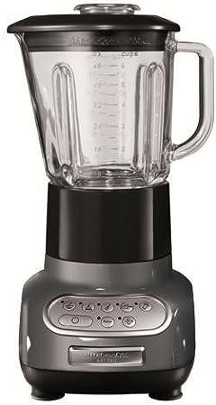 KitchenAid 5KSB5553EMS - Batidora de vaso, con capacidad del tazón de 0.75 l, 550 W, 220-240 V, color plata