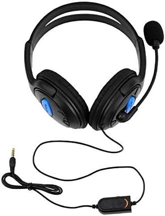 Ps4-001-A Auriculares con micrófono para Ps4 Sony Play Station 4 / Pc Auriculares estéreo para Juegos con Cable Negro Azul: Amazon.es: Hogar