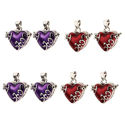 - 8 Pieces Love Heart Enamel Openable Locket Cremation Keepsake Urn Pendant Necklace Jewelry Crafting Key Chain Bracelet Pendants Accessories Best