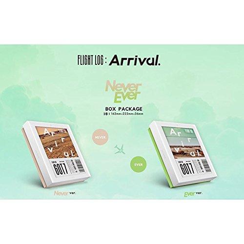 FLIGHT LOG : ARRIVAL [NEVER+EVER Ver. SET] GOT7 Album 2CD + Photobooks + Photocards