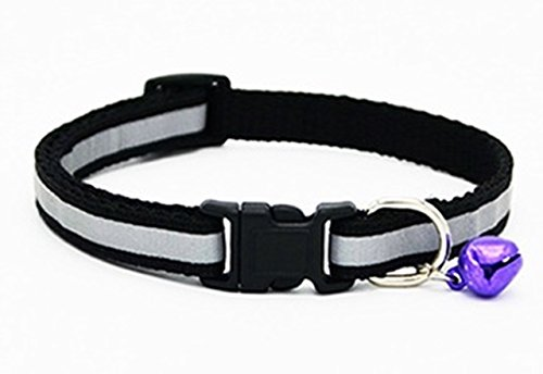 ive Pet Collar Small Dog Dogs Puppy Cat Necklace with Bell Soft Elastic Bow Tag Flower Perfect Popular Extra Large Wide Safety Breakaway Training Camo Kitten Collars, Type-01 ()