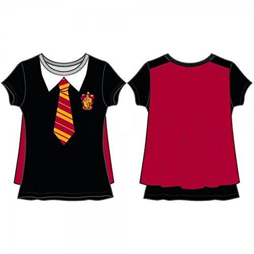 Harry Potter Hogwarts School Uniform Costume T-shirt for Girls (S)