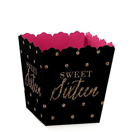 Chic-16th-Birthday-Pink-Black-and-Gold-Candy-Boxes-Party-Favors-Set-of-12