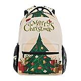 Backpack Travel Merry Christmas Tree School Bookbags Shoulder Laptop Daypack College Bag for Womens Mens Boys Girls