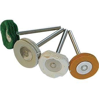 4 pzas Silverline 196590 /Ø20 mm Discos para pulir para herramienta rotativa