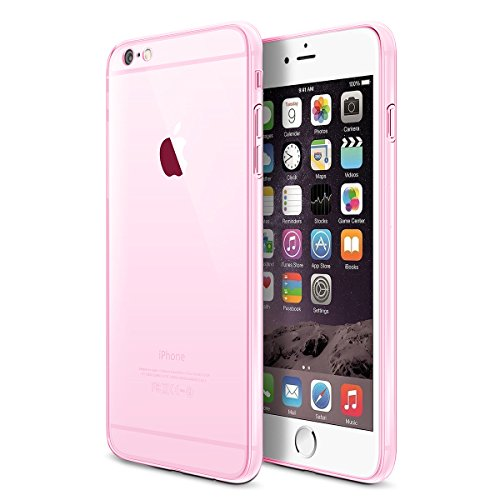 Nicer iphone 6s Plus case ,Ultra Slim Soft Gel TPU Cover Case with Transparent Clear for iPhone 6 Plus / iPhone 6s Plus ( 5.5inch ) , Shock-Absorption,Anti-Scratch - Pink (Iphone5s Case Crystal compare prices)