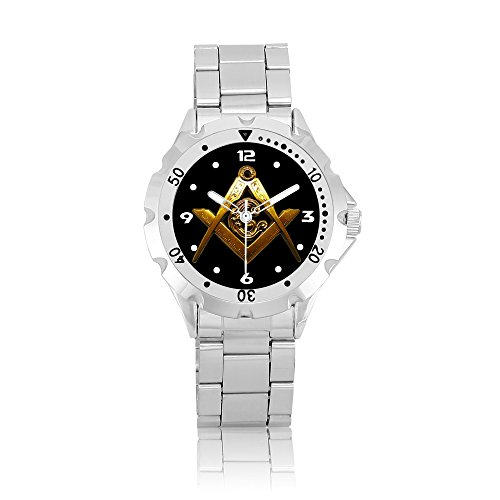 Happy New Year Gifts Wristwatches Stainless Steel USFSM248 Mason Masonic B Stainless Steel Masonic Watch