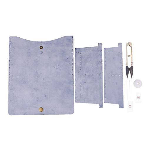 D DOLITY DIYキット レザー ウォレット 財布 手作り 小銭入れ 全3色 - 青の商品画像