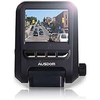 Ausdom AD118 Car DVR Dash Cam Digital Video Recorder with 2-Inch FHD 1080p Resolution, WDR, 6-Glass lenses, Motion Detection and Loop-Cycle Recording