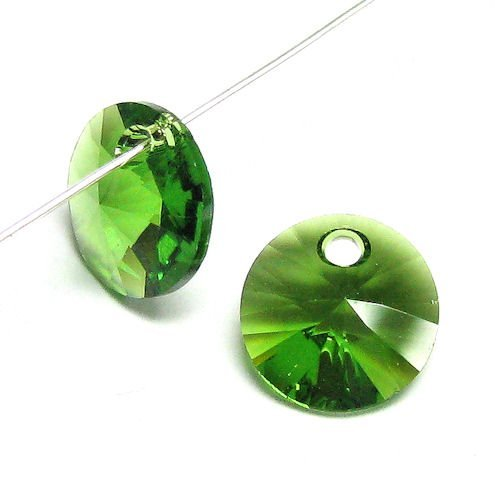 24 pcs Swarovski Crystal 6428 Xilion Rivoli Pendant Charm Fern Green 6mm / Findings / Crystallized Element ()