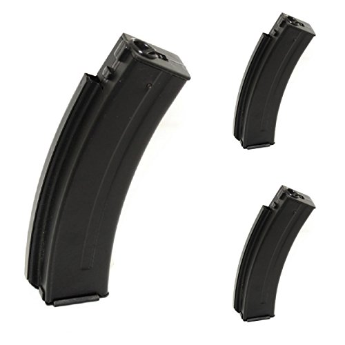 Airsoft Shooting Gear WELL 3pcs 30rd Metal Mag Magazine For R2 Vz61 Scorpion AEP SMG AEG Black