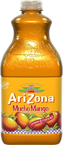 AriZona Mucho Mango Fruit Juice Coctail 59 oz Plastic Bottles - Pack of 8
