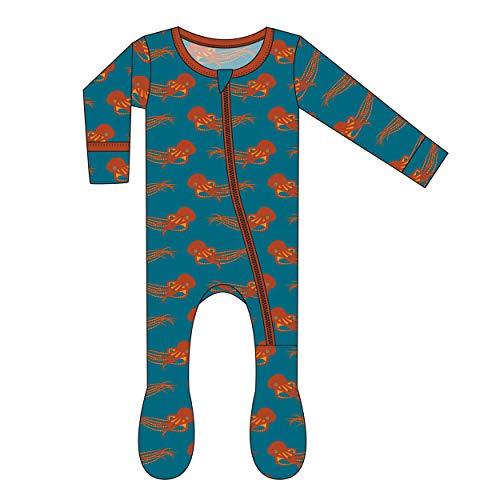 Kickee Pants Little Boys Print Footie Zipper - Oasis Octopus, -
