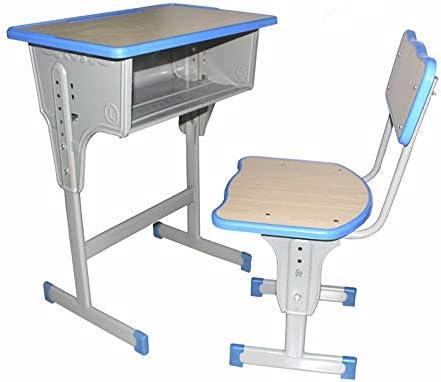 学習机セット 調節可能な子供の芸術の木製テーブルセットの仕事場の高さのために傾けることができるテーブルおよび椅子の子供の調査の机椅子のテーブルセット