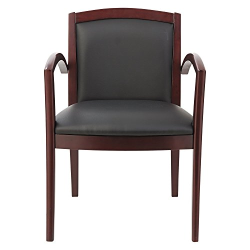 Alera RL5219m Reception Lounge Series Guest Chair,Black Leather