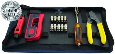 Platinum Tools 90201 Premier CATV Connectivity Kit w//Zip Case Box.