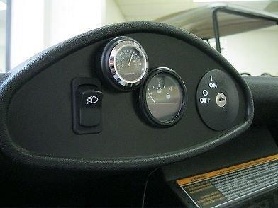 BLACK Stick-on Golf Car Thermometer