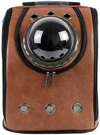 JIANYI 猫の胸のバッグPuバックパックドッグアウトポータブルショルダースペースバッグペットキャリアバックパック (色 : As-picture, サイズ : 32*26*42cm)