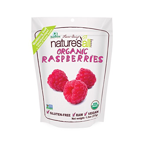 Natierra Nature's All Foods Freeze-Dried Raspberries, 1.3 Ounce