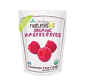 Natierra Nature's All Foods Freeze-Dried Raspberries, 1.3 Ounce