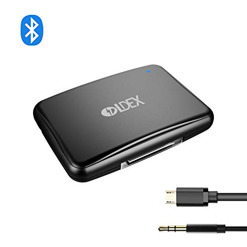 (30Pin Adapter Bluetooth V4.1 Wireless Audio Music Receiver A2DP with Hands-Free Calling and 3.5mm Stereo Jack for Car/30Pin Sounddock Bose)