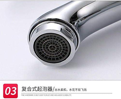 Gulakey バスルームのシンクは、スロット付き浴室の洗面台のシンクホットコールドタップミキサー流域の真鍮シンクミキサータップ非震とう浴室蛇口の亜鉛合金シングルコールド単穴洗面台の蛇口をタップ