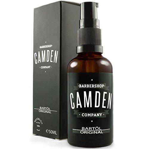 CAMDEN BARBERSHOP COMPANY -50ml- 'ORIGINAL' Beard Oil, natürliche Bartpflege & frischer Duft, Bartöl mit Weichmacher-Wirkung