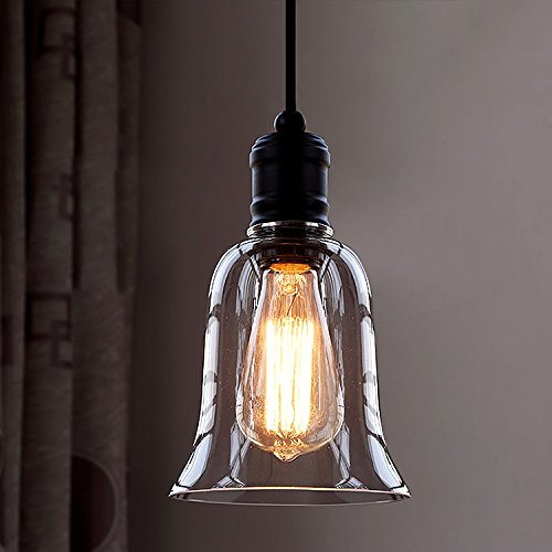 Clear Glass Bell Pendant Lighting