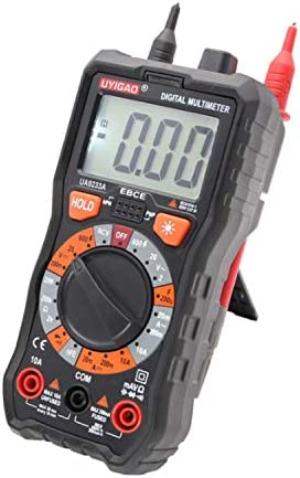 Precise Instrument LCD Display Range Multimeter DC AC Voltage Current Resistance Multimeter Tester Universal Electric Meter UA9233A Electrical Testing Voltage Testers WKY