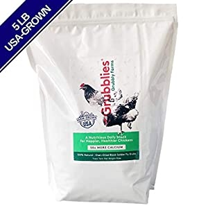 Grubblies - 5 lb. Bag USA-Grown Non-GMO Grubs, 50x More Calcium Than Mealworms - a Daily Nutritious Snack to Treat Your Chickens - 100% Natural and Oven-Dried for Happy, Healthy Hens 3