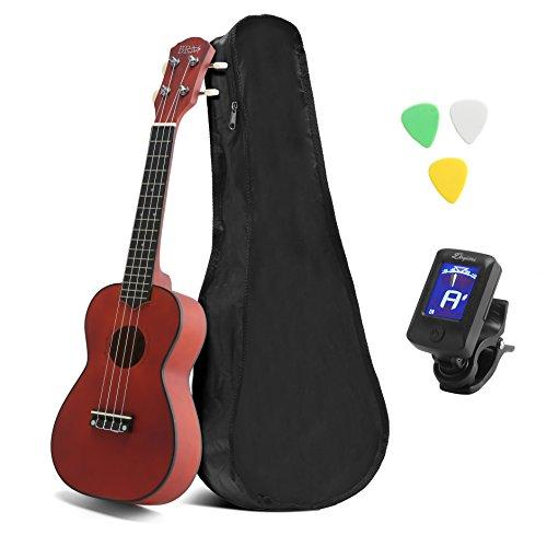 "21"" Economic Concert Soprano Ukulele Start Pack with Gig bag, 4 Nylon Strings Instrument Small Guitar"