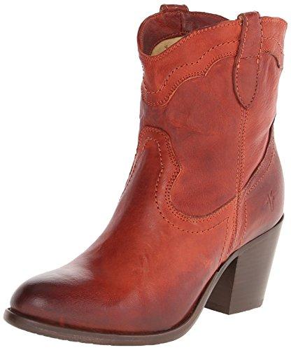 Frye Vrouwen Tabitha Pull-op Korte Western Boot Verbrand Rood