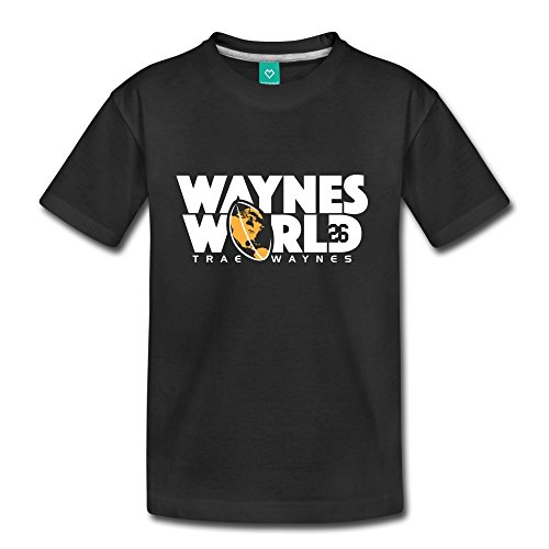 ATHLETE ORIGINALS Toddler Premium T-Shirt by Trae Waynes Waynes World by Trae Waynes in White & Yellow (Digital Print) Youth 4T Black