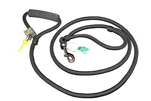 Timberwolf Alpine Rope Dog Leash w/Traffic Handle ~Black~ 7/16''x 72''