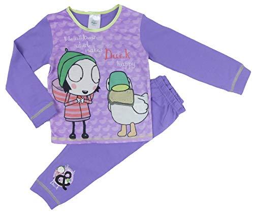 Toddler Girls Sarah and Duck Pyjama Set Sleeping Ducks 18-24M to 4-5Y (18-24 Months, Lilac) -