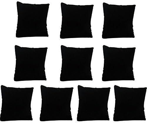 Coussin Bijoux Montres Bracelets Velours Noir Noir