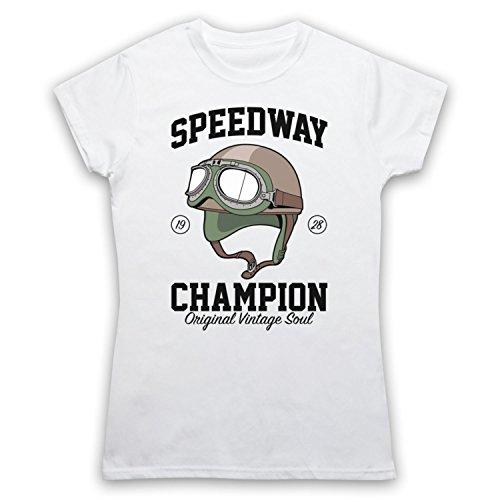 Speedway Champion Original Vintage Soul Camiseta para Mujer Blanco